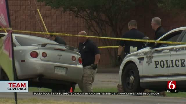 Tulsa Police: Suspected Shooter, Suspected Getaway Driver In Custody