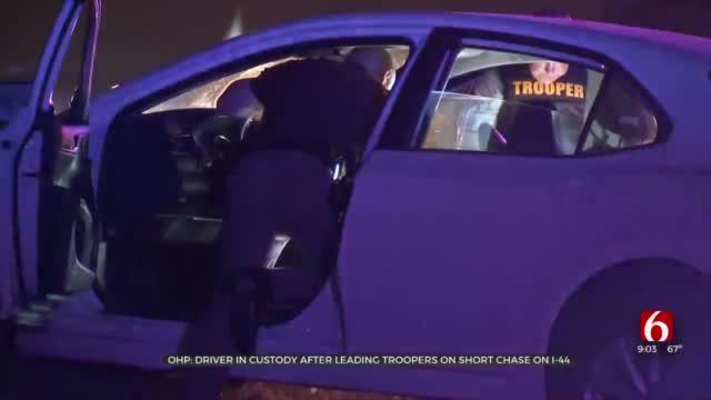 Man In Custody After OHP Pursuit, Crash On I-44