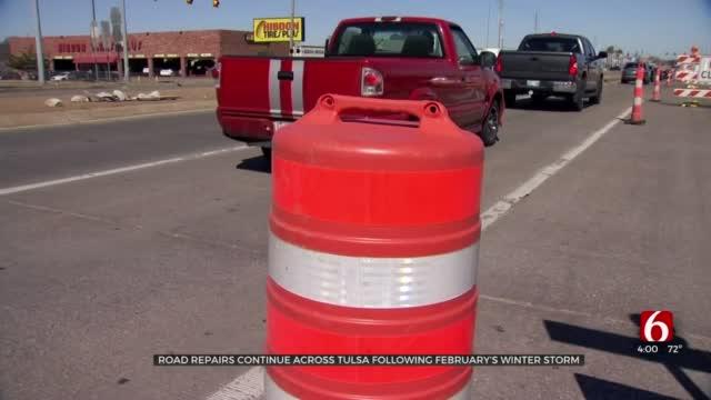 Potholes Impacting Drivers As Tulsa Crews Work To Repair Them