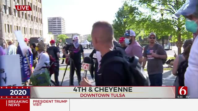 Update: Downtown Tulsa Full of Supporters, Protesters