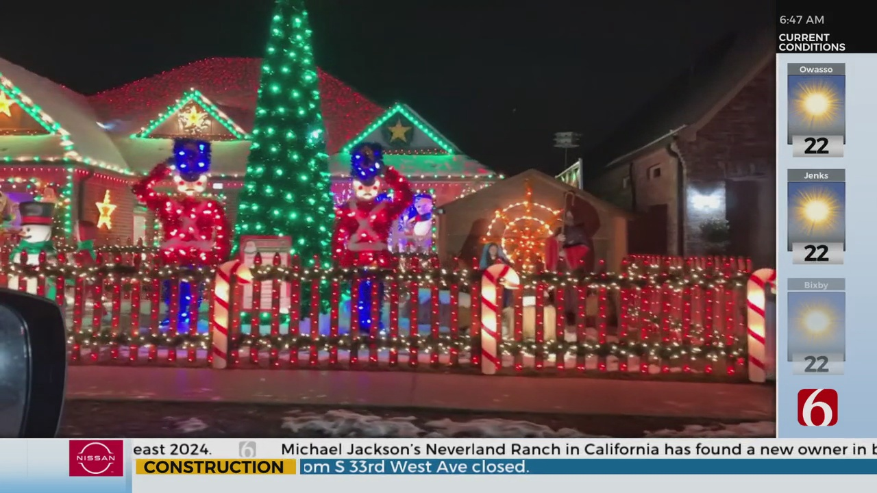 Jenks Man Discusses Winning 'The Great Christmas Light Fight' Competition