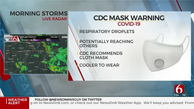 CDC Warns Against Wearing Masks With Exhalation Vents Regarding COVID-19