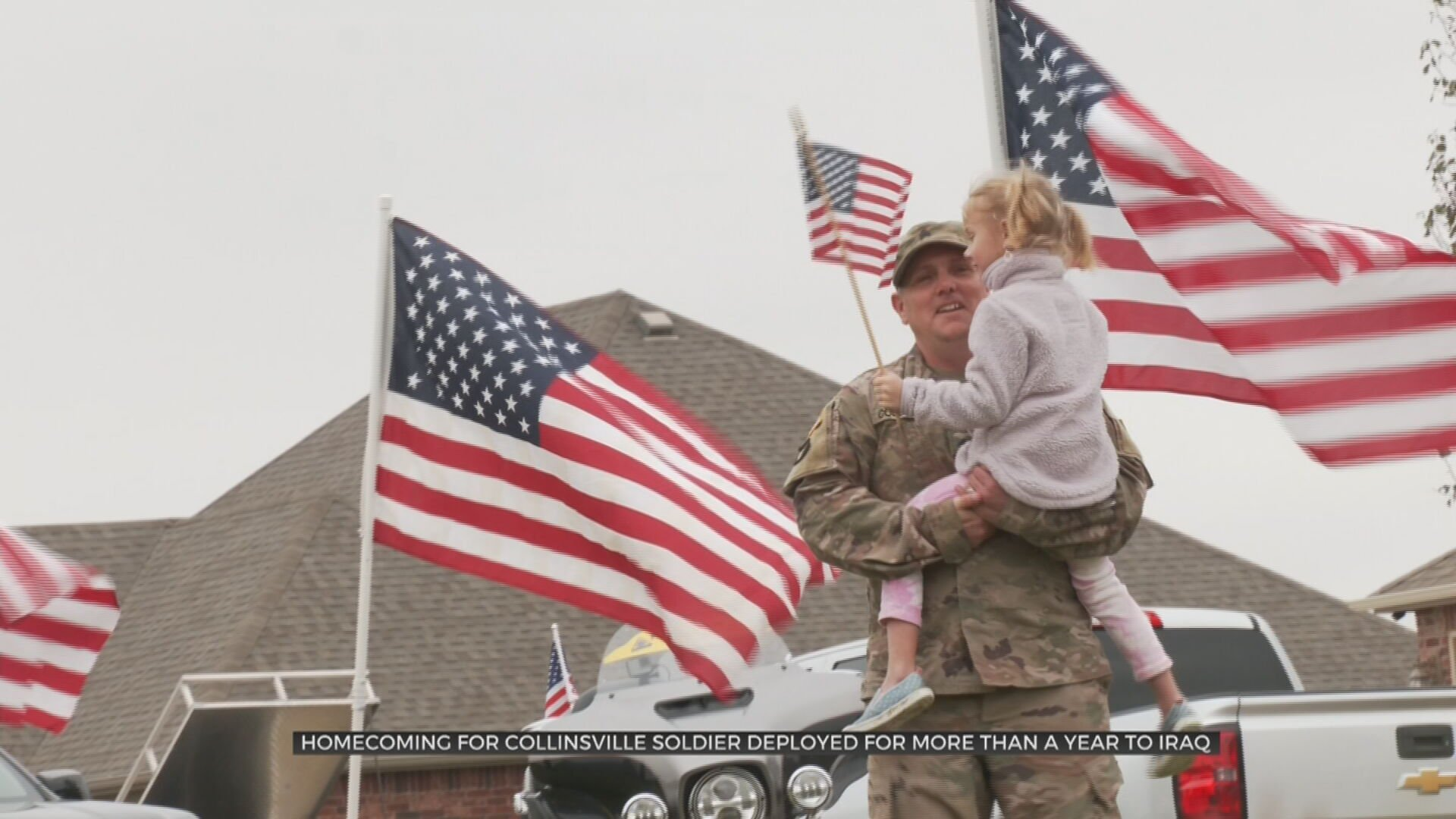 Collinsville Celebrates Homecoming Of Soldier Deployed In Iraq