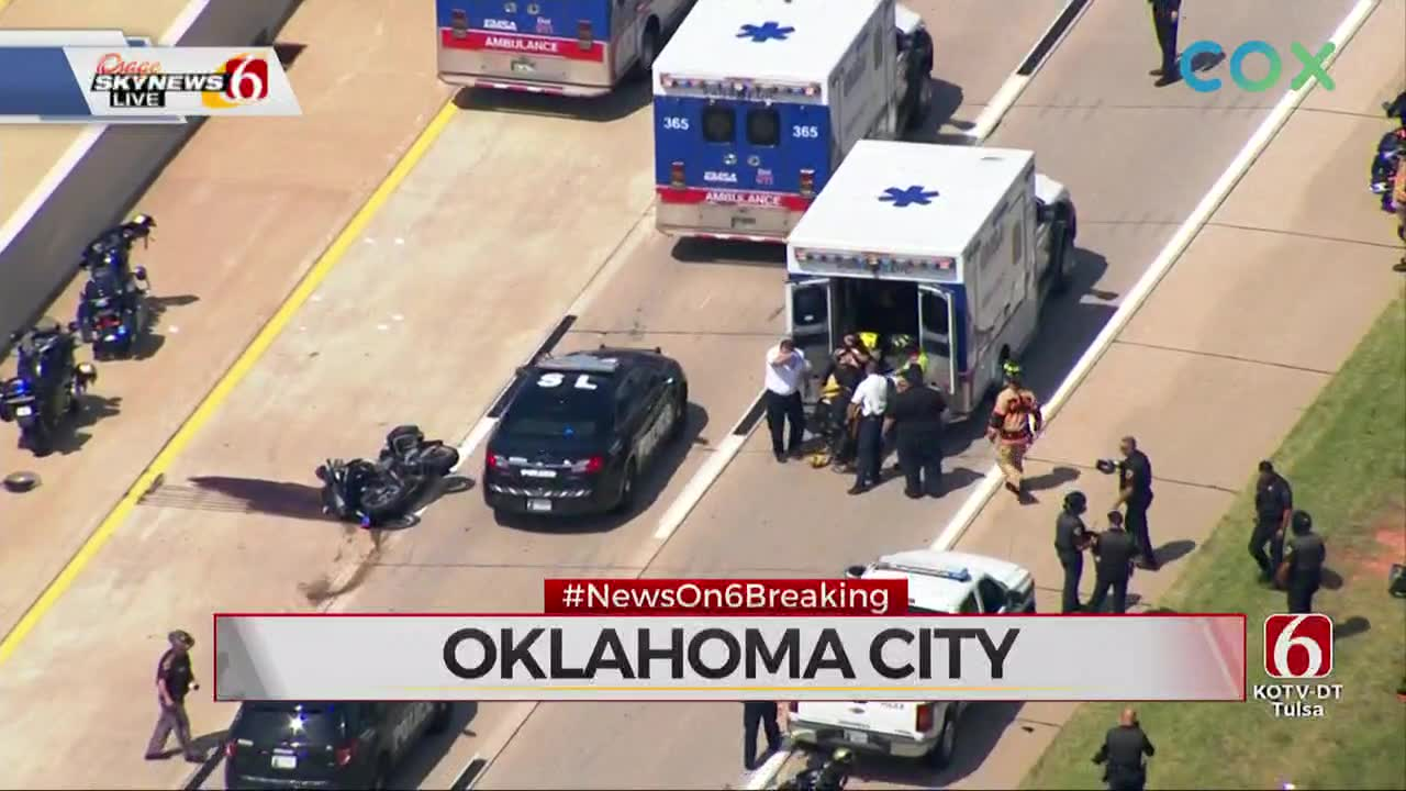 Injuries Reported In Motorcade Crash Near OKC