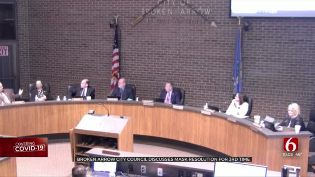 Broken Arrow City Council Discusses Mask Resolution For 3rd Time