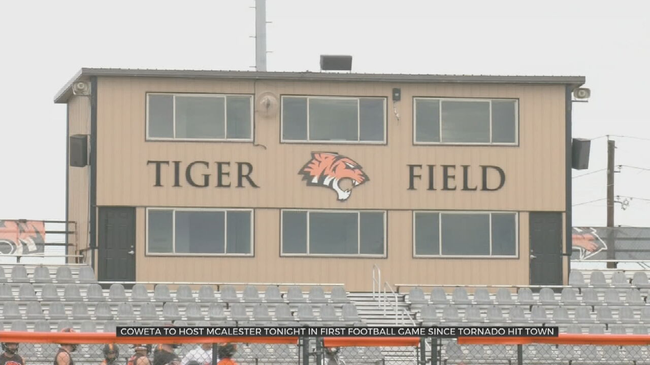 Coweta Football Field Ready For Play Days After Tornado Hits Town