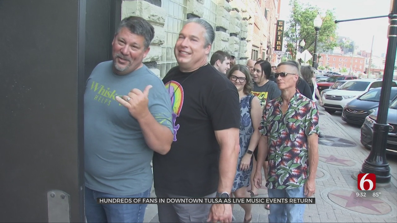 Hundreds Of Fans Gather In Downtown Tulsa As Live Music Events Return