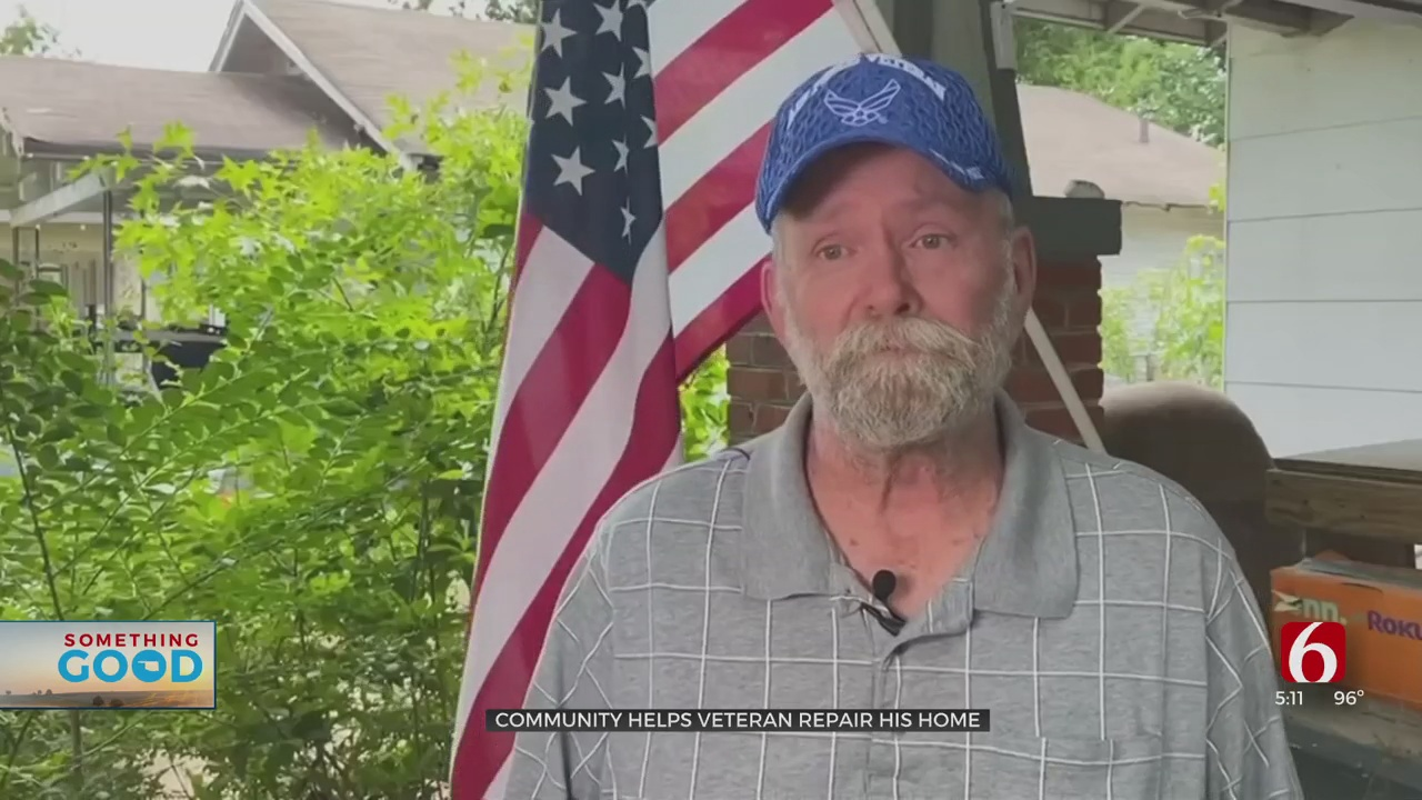 Muskogee Veteran Floored As Community, Local Business Help Repair His Home