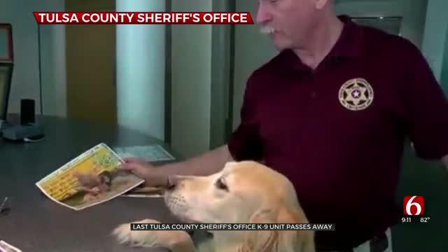 Last Tulsa County Sheriff's Office K-9 Unit Passes Away