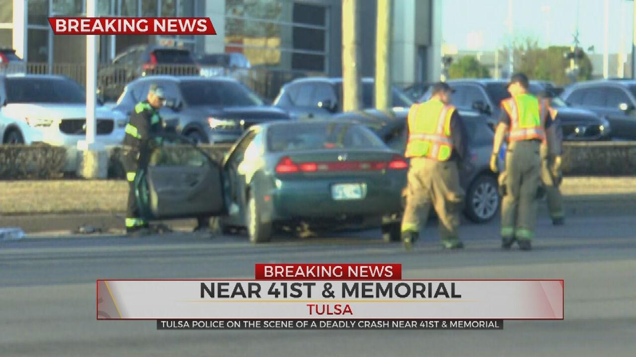 Tulsa Police Respond To Deadly Crash Near 41st, Memorial