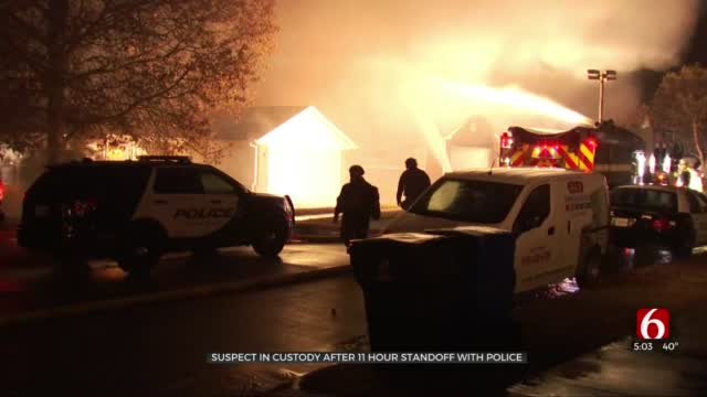 Police: Suspect In Custody After 11-Hour Standoff, Burned Innocent Couple's Home