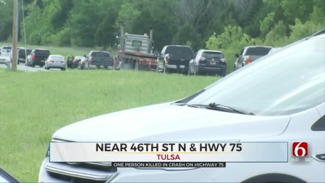 Emergency Crews Respond To Fatal Rollover Crash On Highway 75