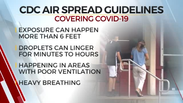CDC Updates Guidelines For How COVID-19 Spreads
