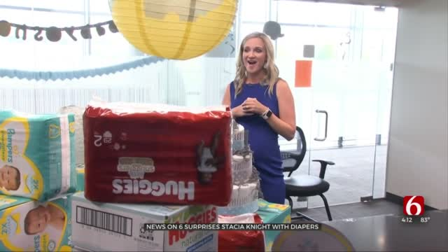 Watch: News On 6's Stacia Knight Surprised With Diaper Shower