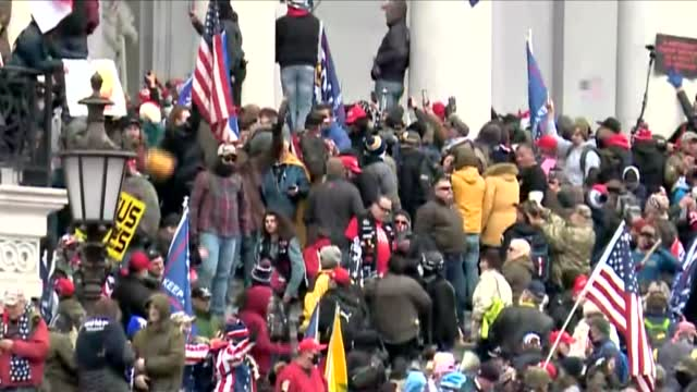 Watch: Protesters On U.S. Capital Steps