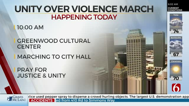 'Unity Over Violence' March To Take Place In Tulsa Monday