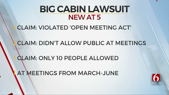 Big Cabin Residents File Lawsuit Against City, Say Officials Violated Open Meetings Act