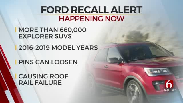 Ford Recalls More Than 660,000 Explorers