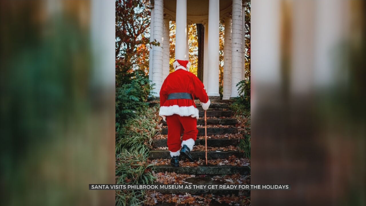 Santa Stops By Philbrook Museum To Inspect Holiday Festival Décor