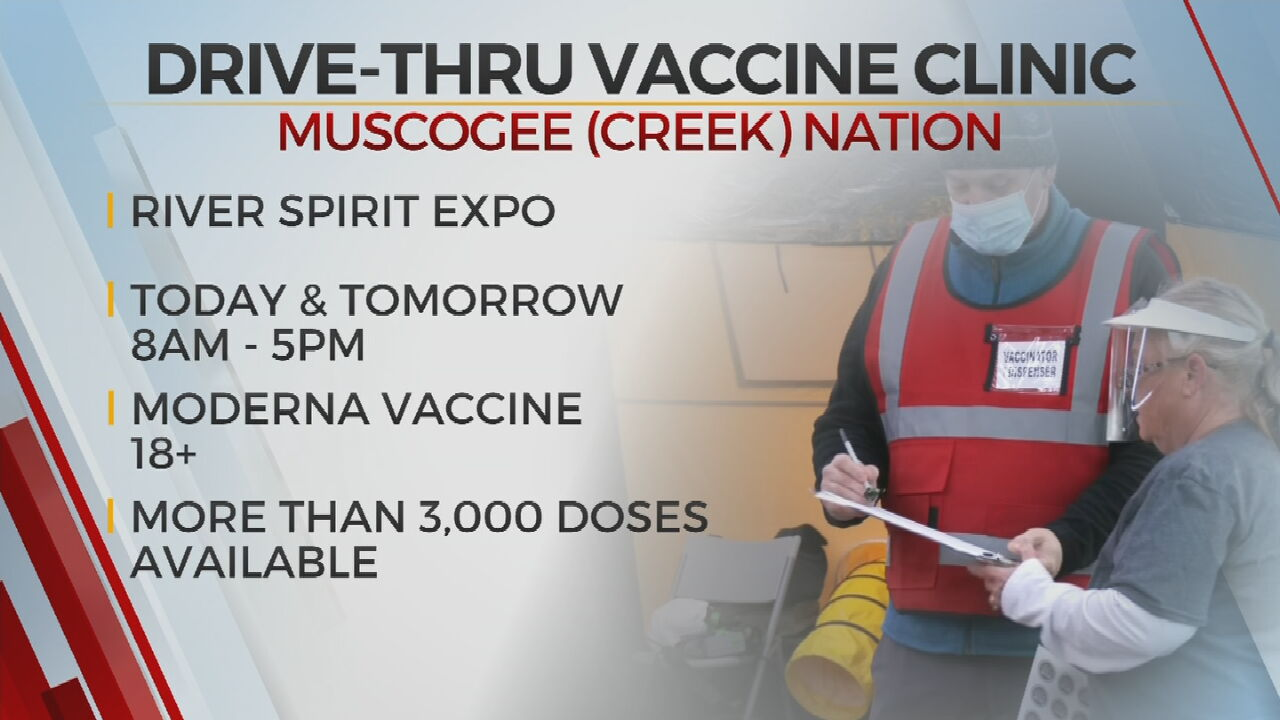 Muscogee (Creek) Nation Health Service Hosts Mass Vaccination Event At River Spirit Expo Center