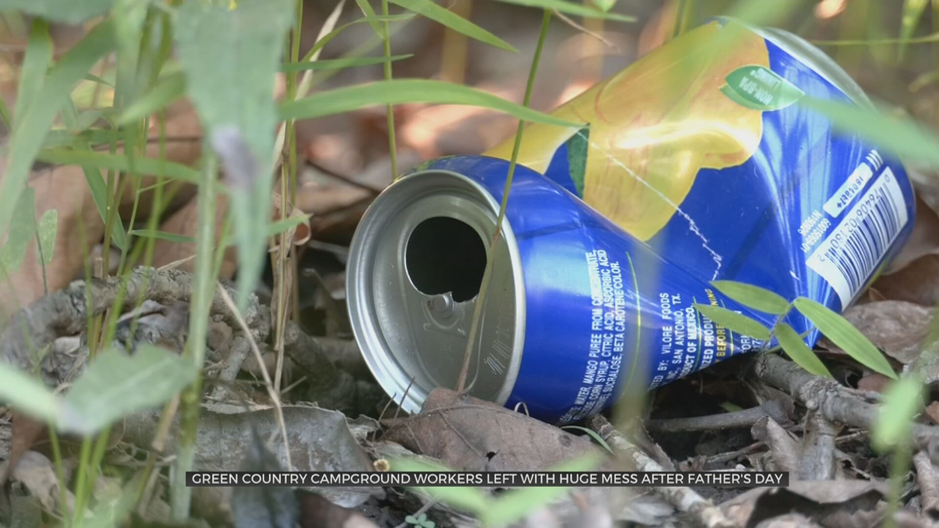 Campground Staff Left To Clean Up Mess Of Litter After Father's Day Weekend