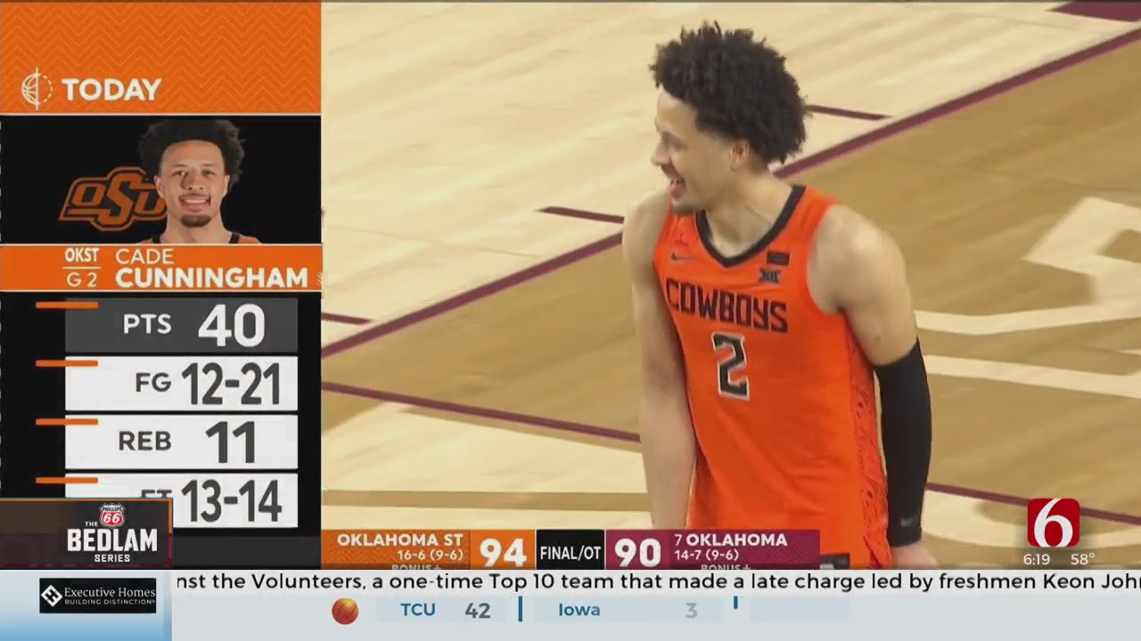 Cunningham Scores 40, Oklahoma State Tops No. 7 Oklahoma In OT