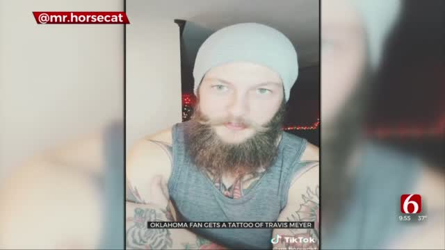 Oklahoma Man Shows Off Travis Meyer Tattoo On TikTok