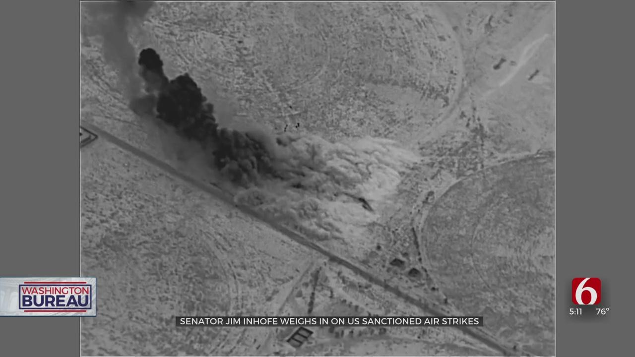 Sen. Inhofe Offers Lukewarm Support Of Recent US Sanctioned Airstrikes