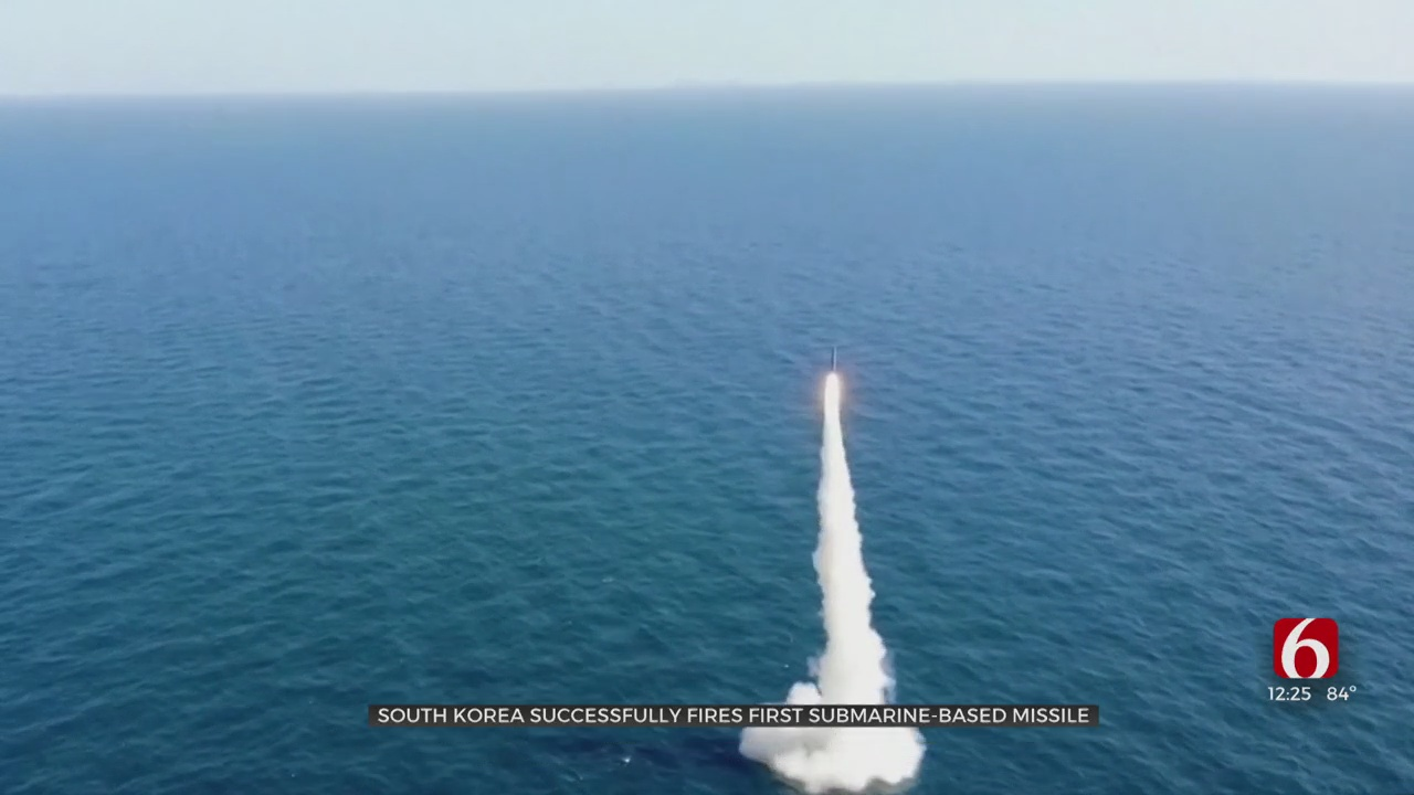 South Korea Successfully Fires First Submarine-Based Missile