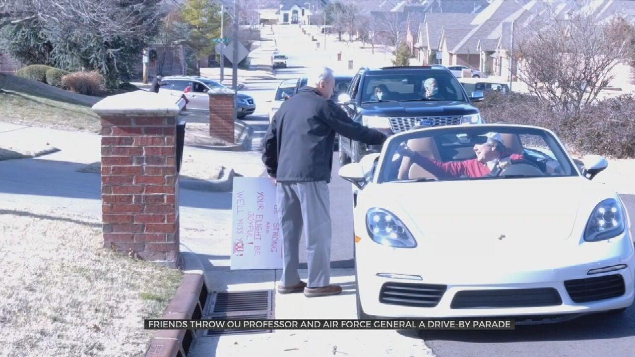 Oklahoma Veteran ,Professor Gets Grand Drive-By Sendoff