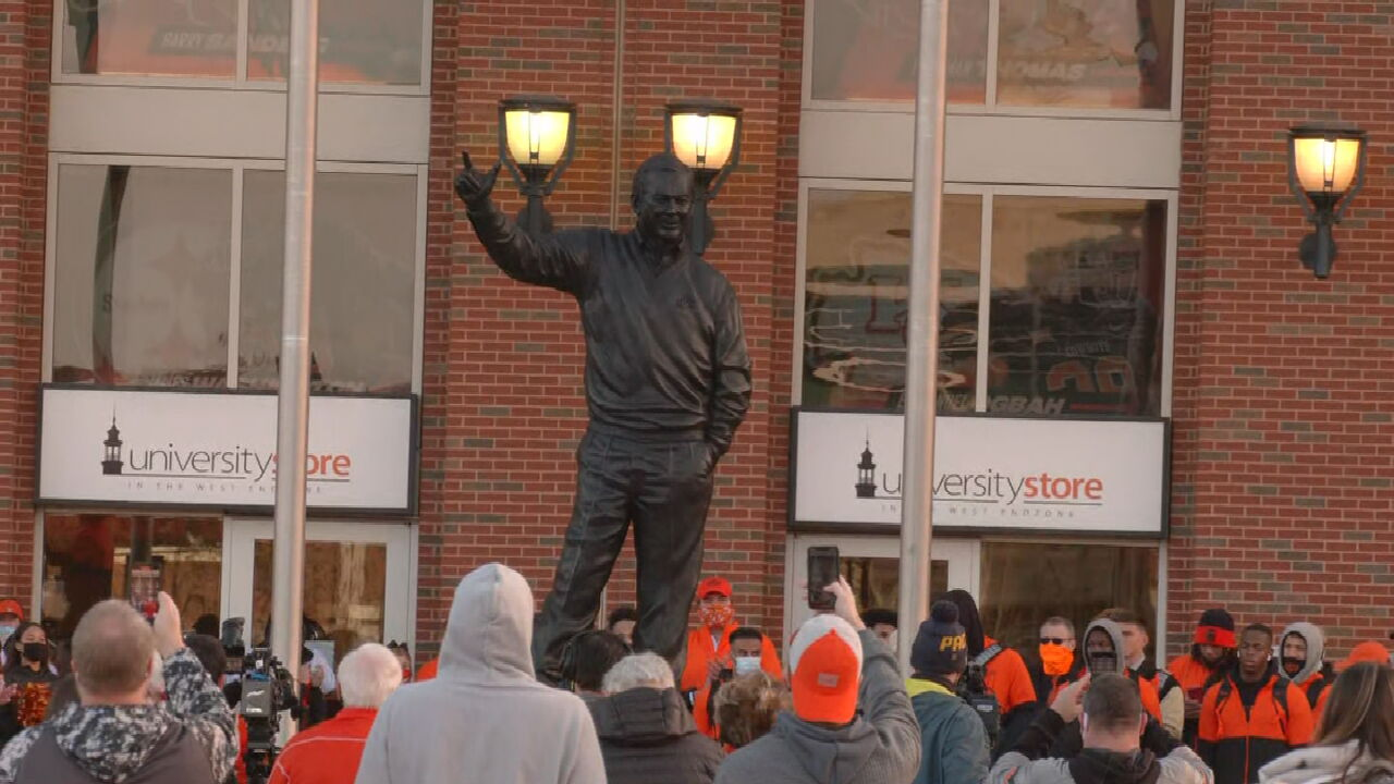 Boone Pickens Stature Unveiled At Oklahoma State