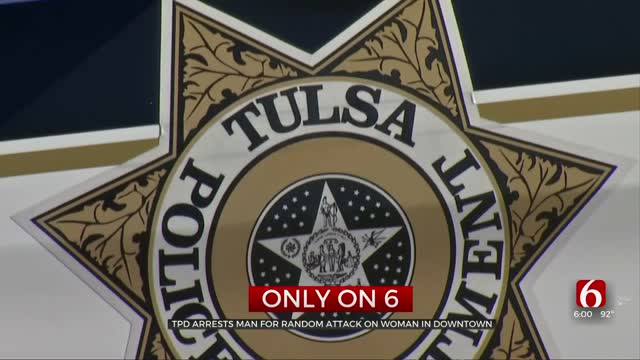Tulsa Police Arrest Man Accused Of Random Attack On Woman Downtown