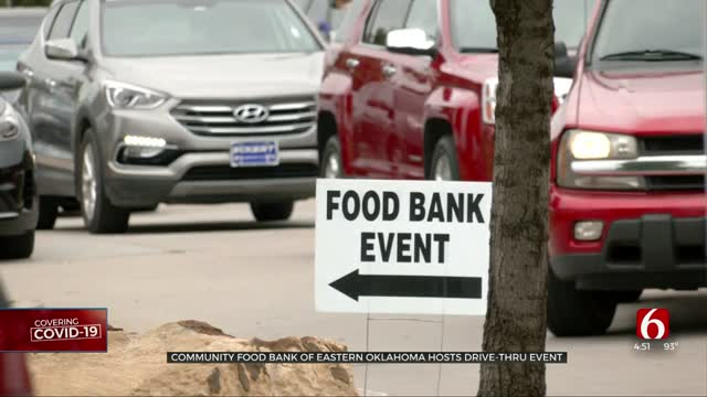 Community Food Bank Of Eastern Oklahoma Continues Helping Those In Need During COVID-19 Pandemic