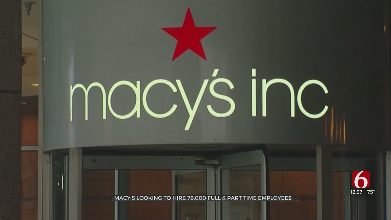 Macy's Looking To Hire 76,000 Full & Part Time Employees