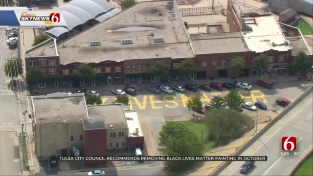 City Council Recommends Removal Of Black Lives Matter Painting