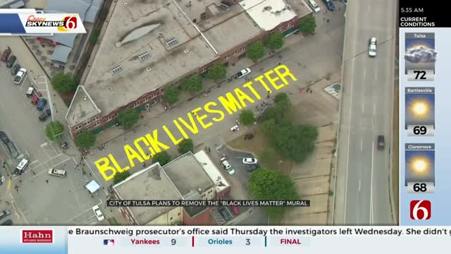 City Of Tulsa To Remove Black Lives Matter Mural From Greenwood Avenue