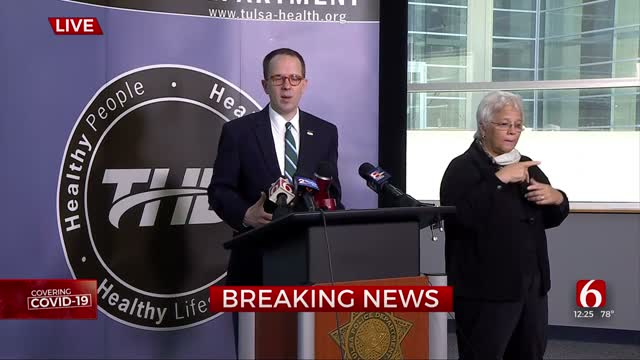 WATCH: Tulsa Mayor, Area Leaders Give Update On COVID-19, Phase 3 Of Reopening