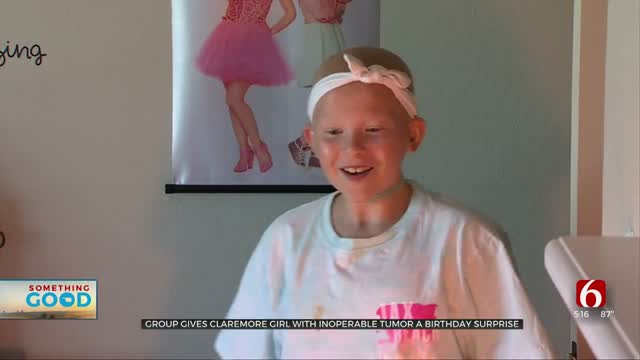 Community Gives Birthday Surprise To Claremore 11-Year-Old With Inoperable Tumor
