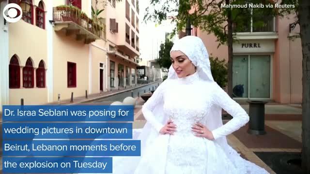 Watch: Explosion In Beirut Interrupts Bride's Wedding Photos
