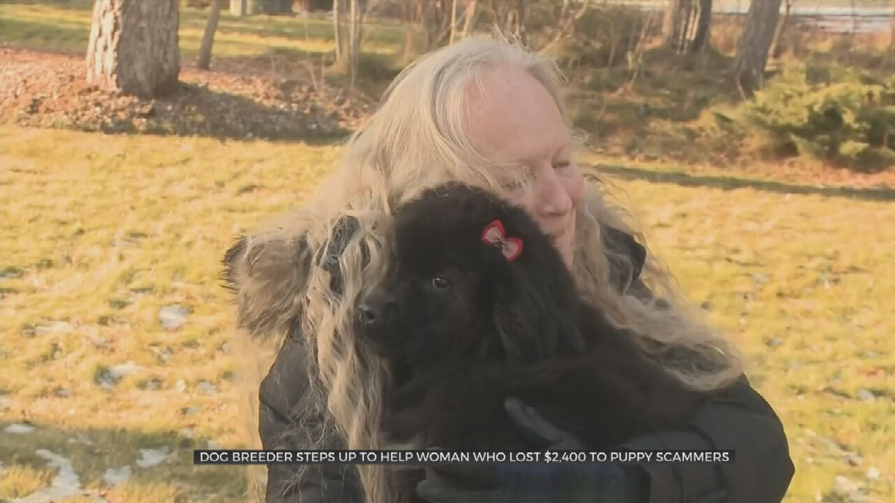 Viewer Donates Puppy To Grieving Mother Who Was Scammed Out Of Thousands Of Dollars