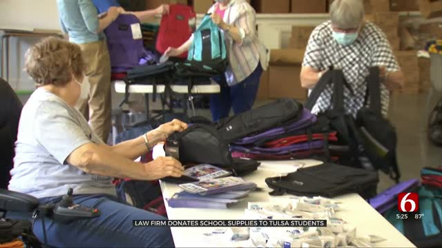 Tulsa Law Firm Donates School Supplies To Nearly 2,000 Students