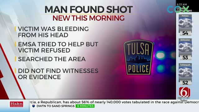 Tulsa Police Search For Shooter After Man Shot