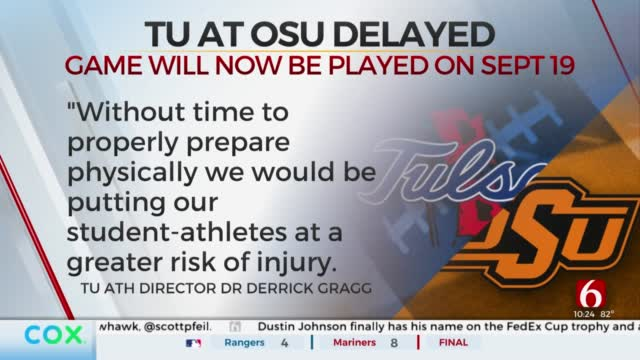 TU Football Delays Season Opener Against OSU