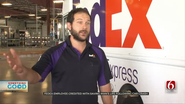 FedEx Employee Rushes To Help Save Man's Life Following Car Crash