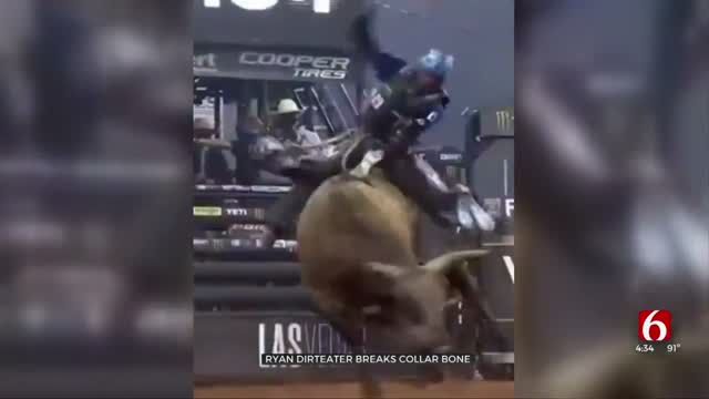 Watch: Professional Oklahoma Bull Rider Injured