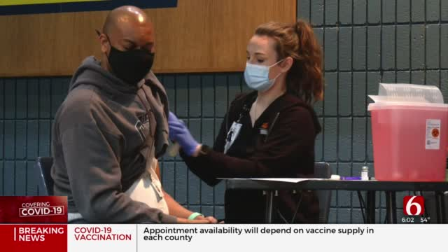 Tulsa Police Officers Begin To Receive COVID-19 Vaccine