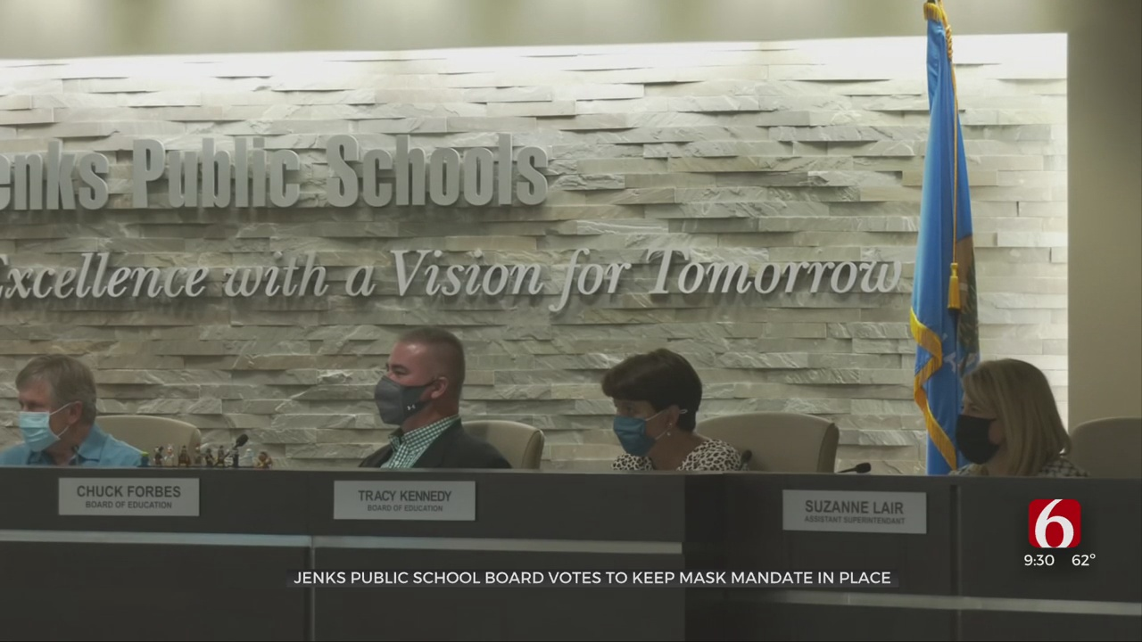 Jenks Board Of Education Votes To Keep Mask Requirement In Place