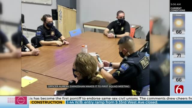 TPD Officers Attends Squad Meeting Months After Being Injured In The Line Of Duty