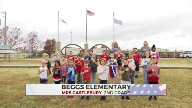 Daily Pledge: Beggs Elementary