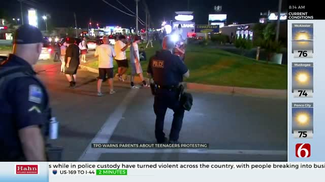 Tulsa Police: Teens, Young Adults Causing Issues At Protests